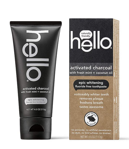 Hello Activated Charcoal Fluoride-Free Toothpaste