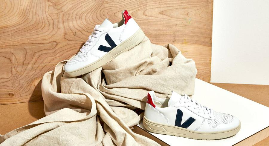 Veja sustainable sneakers with socks