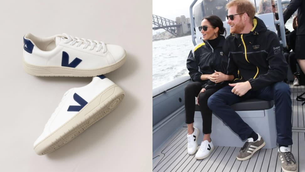 Sustainable sneakers Veja with socks