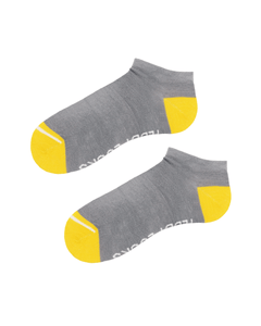 Light grey low socks. Ankle socks for men. Women's sustainable socks.