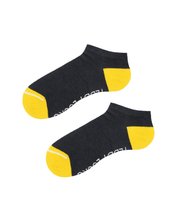 Load image into Gallery viewer, Dark Grey athletic socks. Low cut socks made from recycled plastic bottles