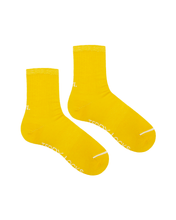 Load image into Gallery viewer, Yellow Ribbed Crew Socks