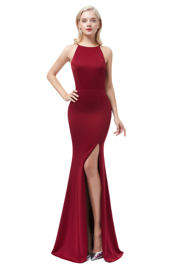 Wine Red Evening Dress