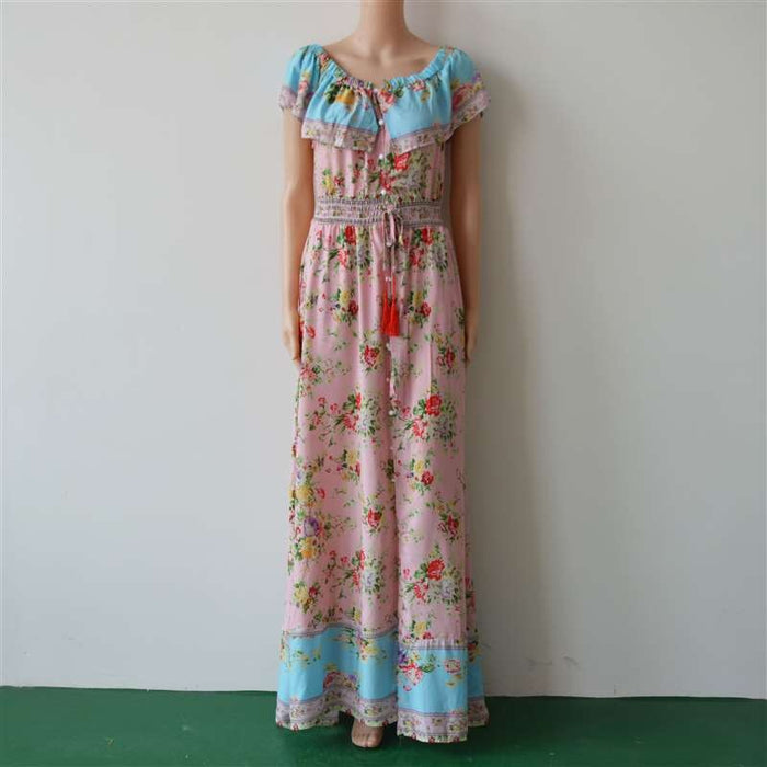 Vintage Ruffle Maxi Dress