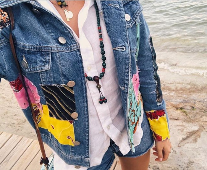 Boho female jacket