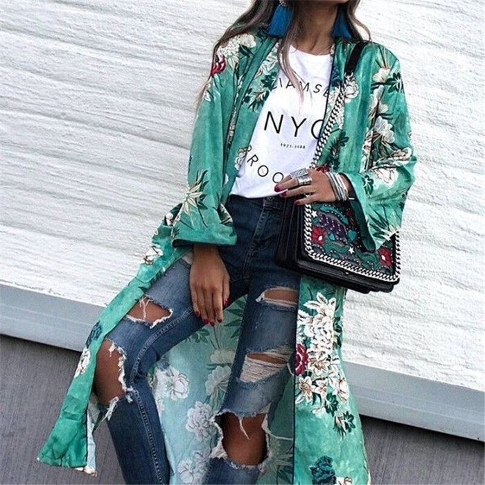 Street Floral Printed Coat ( S to 3XL )