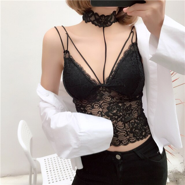 Lace Crop  Boho Underwear