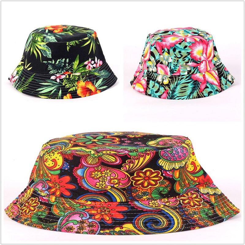 Floral Hat Wide Brim