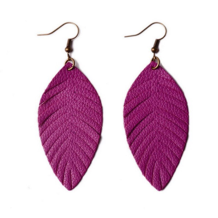 Boho Leather Soft Drop Earrings
