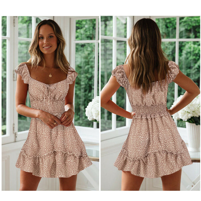 Summer Boho Short Mini Dress