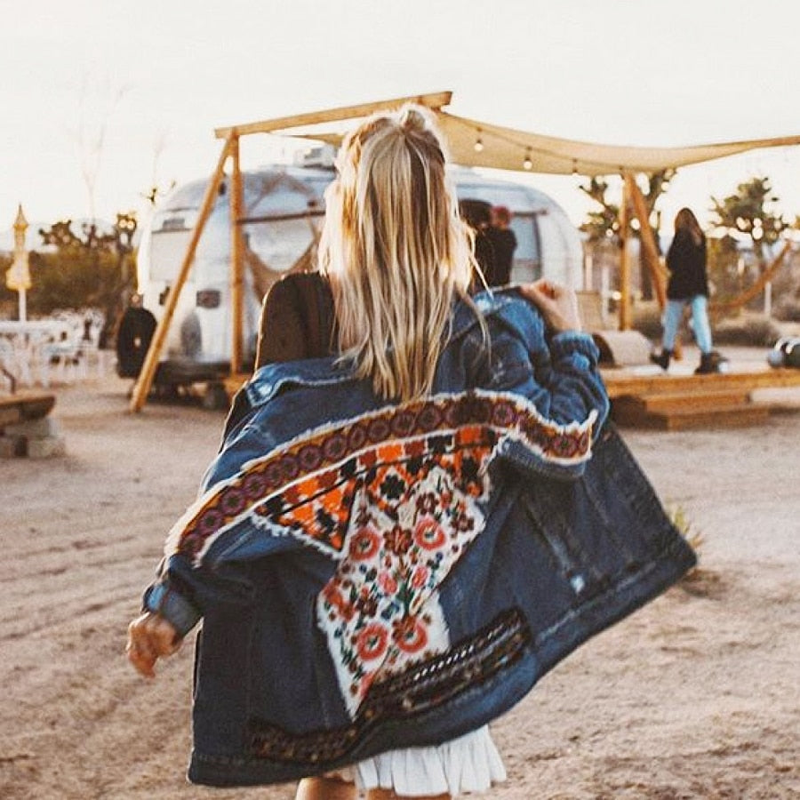 Gypsy Cotton Denim Jacket