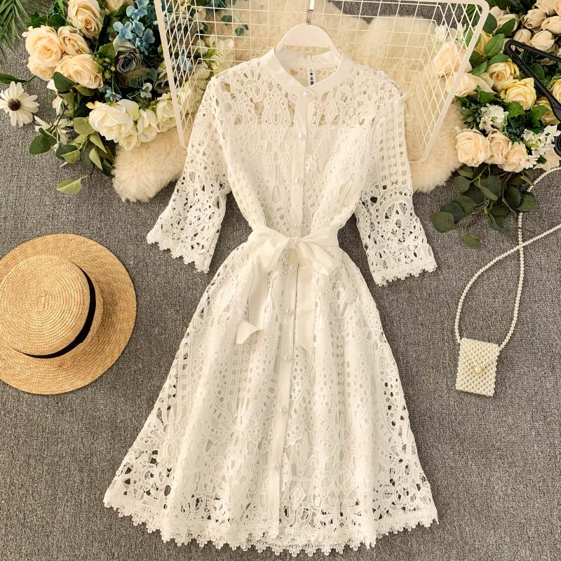 Summer Dress Embroidery A-Line  Dress