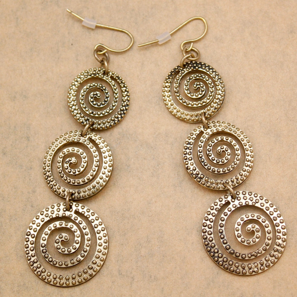 Ethnic Round Earrings