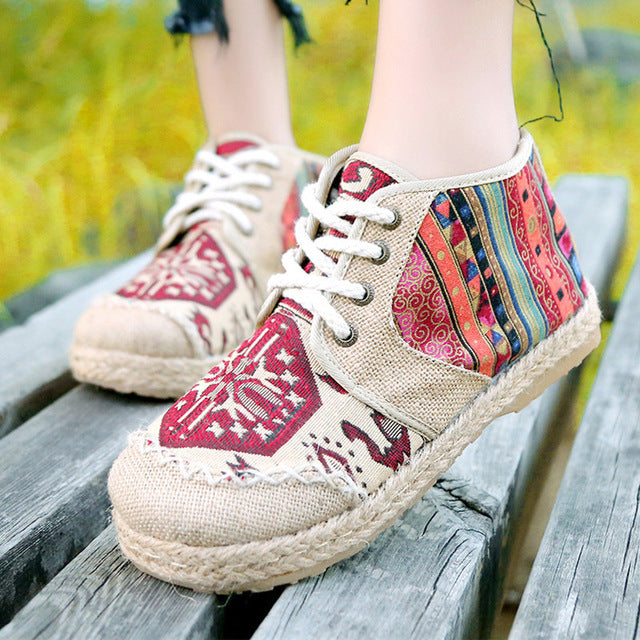 Vintage Embroidered Boho Shoes