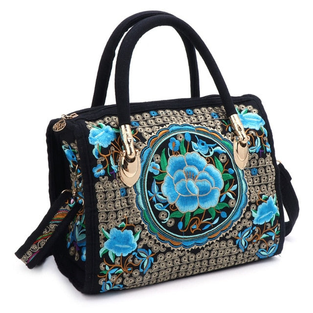 Floral Embroidered Handbag Ethnic/Boho