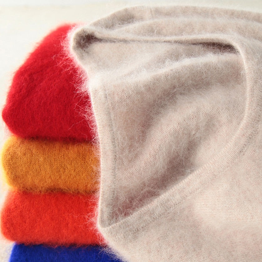 Super Warm Fluffy Cashmere Soft Sweater