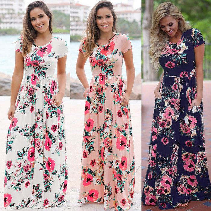 Elegant Women Robe Maxi Dress