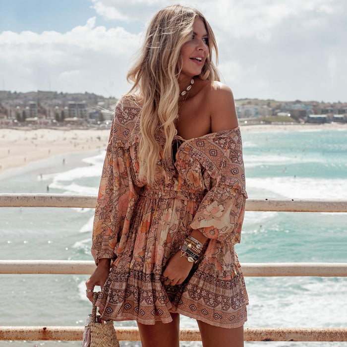 Ruffle Boho Dress