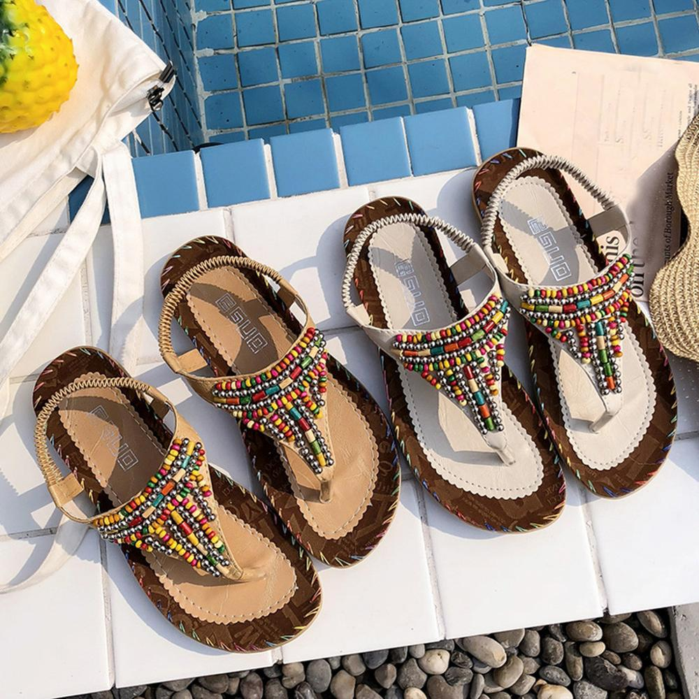 String Bead Beach Sandals