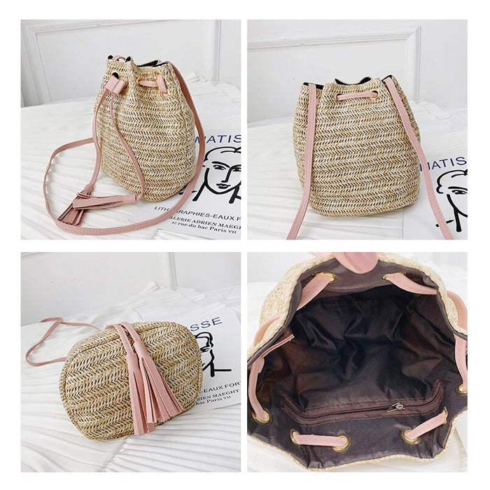 Designer Boho Straw Bag
