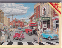 1960's In The High Street Greetings Card - Trevor Mitchell