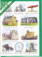 British Landmarks Greetings Card