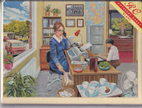 The Secretary Nostalgia Greetings Card - Trevor Mitchell