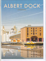 Albert Dock Liverpool Greetings Card - Dave Thompson