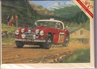 Alpine Car Rally Greetings Card - Richard Wheatland