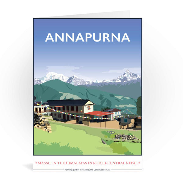Annapurna Himalayas Nepal Greetings Card - Tabitha Mary