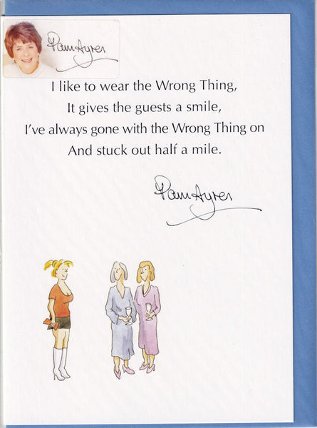Pam Ayres Wear The Wrong Thing Poem Greetings Card