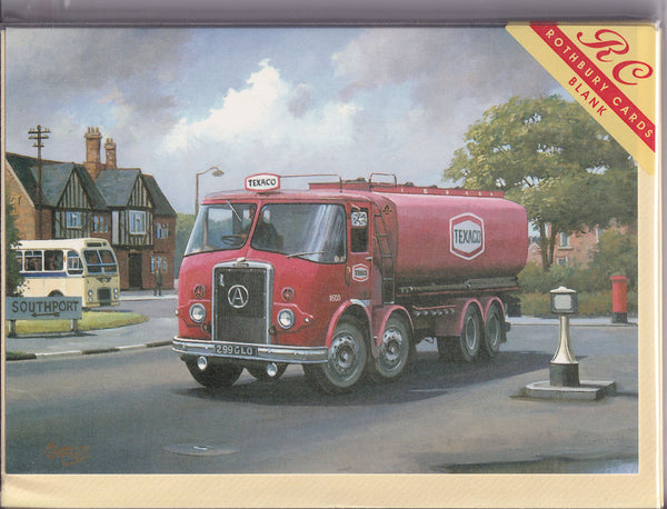 Atkinson Black Knight Texaco Lorry Greetings Card - Mike Jeffries