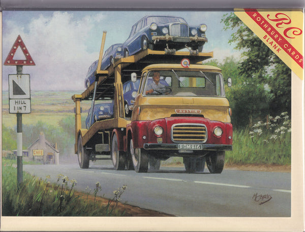 Austin Carrimore Car Transporter Greetings Card - Mike Jeffries