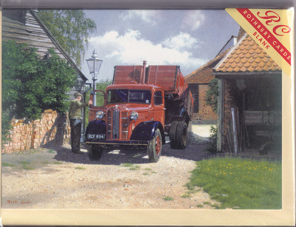 Austin Tipper Truck Greetings Card - Malcolm Root