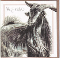 Awapara Island Goat Greetings Card - Sally Anson