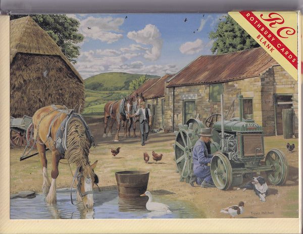 Back From The Fields Greetings Card - Trevor Mitchell