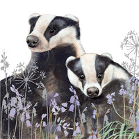 Badgers Greetings Card - Pollyanna Pickering