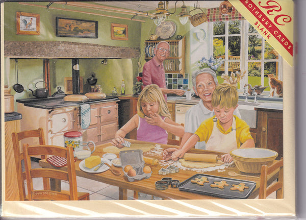 Baking With Granny Greetings Card - Trevor Mitchell