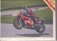 Barry Sheene At Cadwell Park Greetings Card - Richard Wheatland