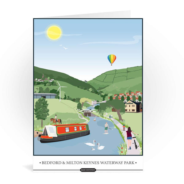 Bedford And Milton Keynes Waterway Park Greetings Card - Tabitha Mary