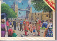 Beefeater At The Tower Of London Greetings Card - Kevin Walsh