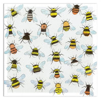 Bees Buzzing Around Greetings Card - Eric Heyman
