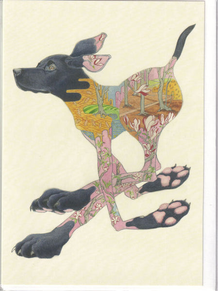 Black Labrador Dog Greetings Card - Daniel Mackie