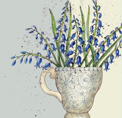 Bluebell Flowers Greetings Card - Caroline Cleave