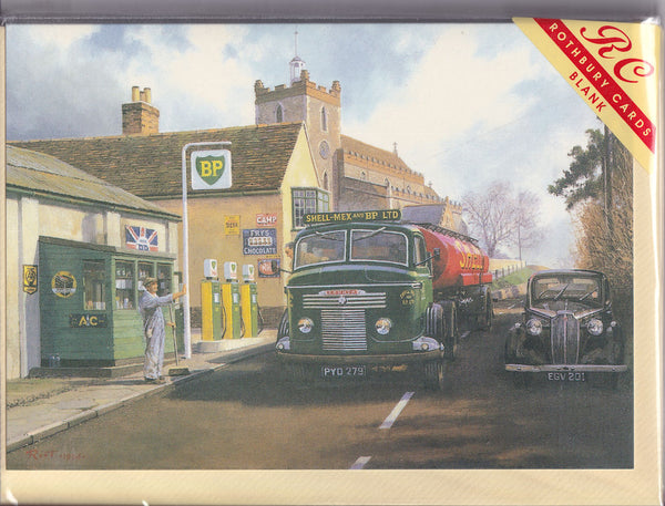 BP Petrol Tanker Lorry Greetings Card - Malcolm Root