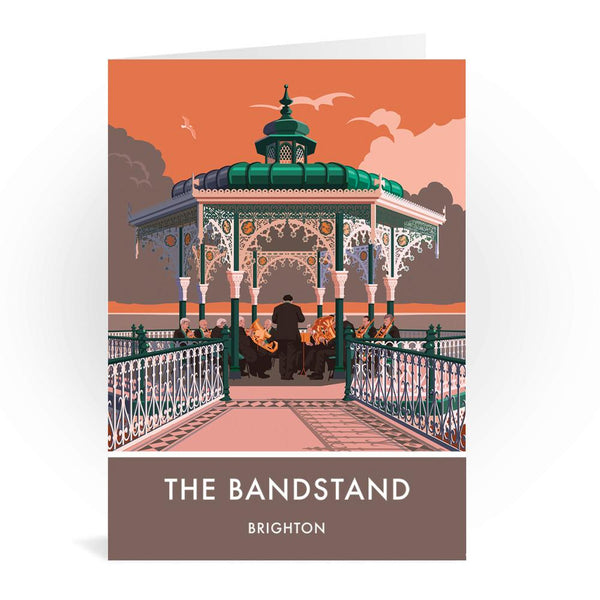 The Bandstand Brighton Greetings Card - Stephen Millership