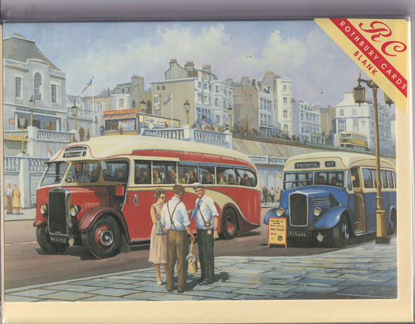 Brighton Vintage Buses Greetings Card - Mike Jeffries