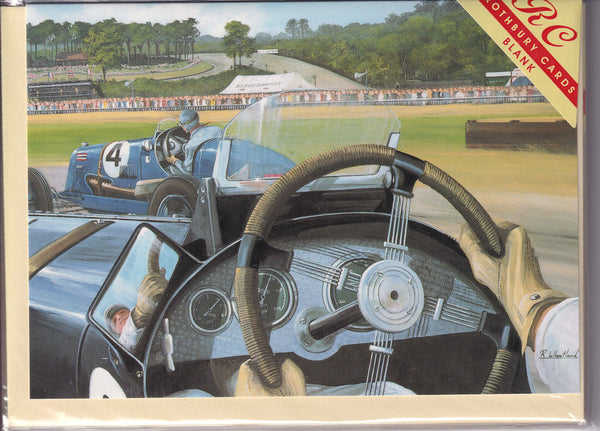 Brooklands From The Hot Seat Greetings Card - Richard Wheatland