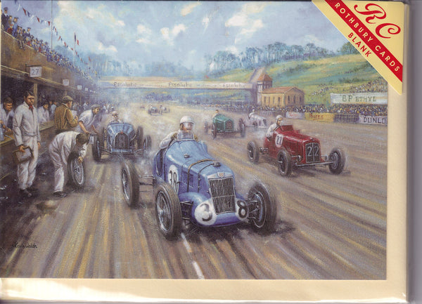 Brooklands Motor Racing Greetings Card - Kevin Walsh