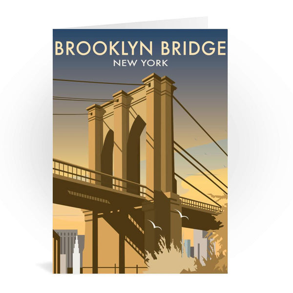 Brooklyn Bridge, New York Greetings Card - Dave Thompson